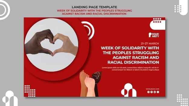 Solidarität für menschen, die mit rassismus zu kämpfen haben
