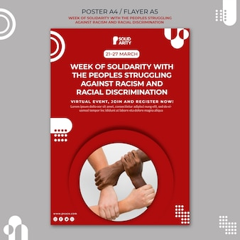 Solidarität für menschen, die mit rassismusplakaten zu kämpfen haben