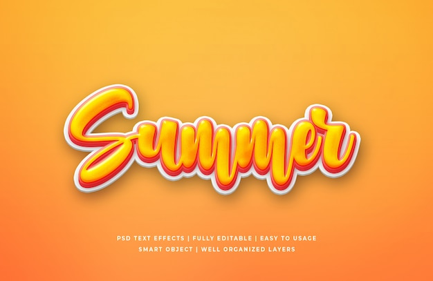 Sommer 3d text style effekt