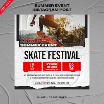 Sommer-event-banner instagram-post