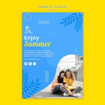 Sommer mit freund flyer vorlage