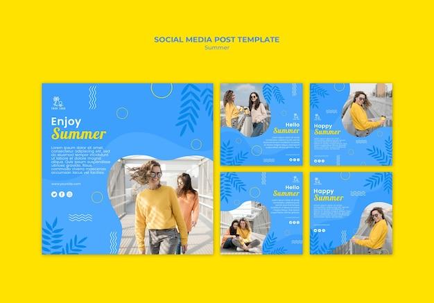 Sommer mit freund social media post