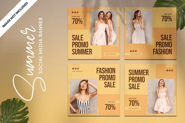 Sommer mode promo social media banner vol3