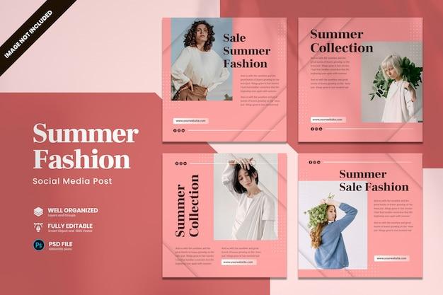 Sommer mode promo social media vorlage