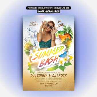 Sommer party flyer