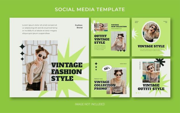 Sommer retro fashion social media post banner layout