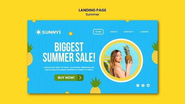 Sommer sale landing page