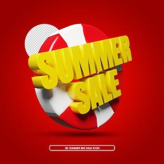 Sommer sale rabatt 3d render