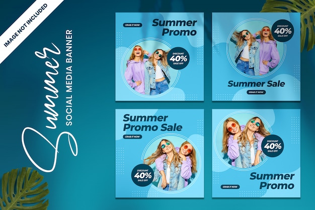 Sommer sale social media vorlage