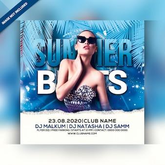 Sommer schlägt party flyer
