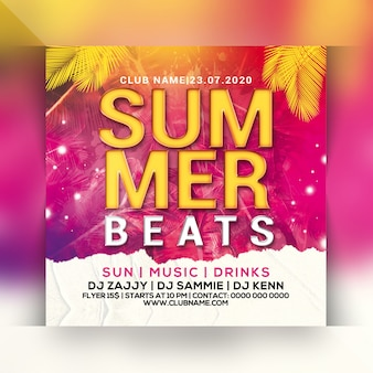 Sommer schlägt party flyer
