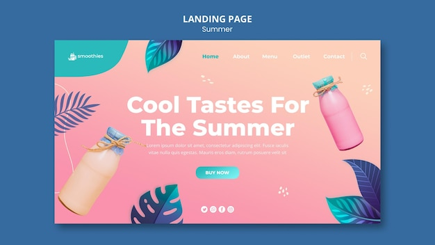 Sommer smoothie landing page