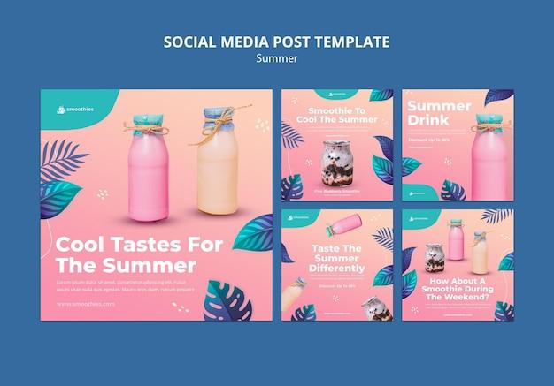 Sommer smoothie social media post
