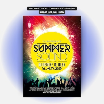 Sommer sound party flyer