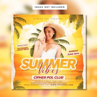 Sommer-vibes-flyer-vorlage