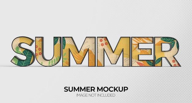 Sommer-wortzeichen-mockup für werbung oder branding