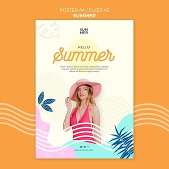 Sommerdruckvorlage mit foto