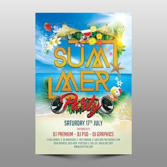 Sommerfest-vorlage