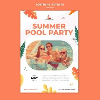 Sommerfestplakatvorlage
