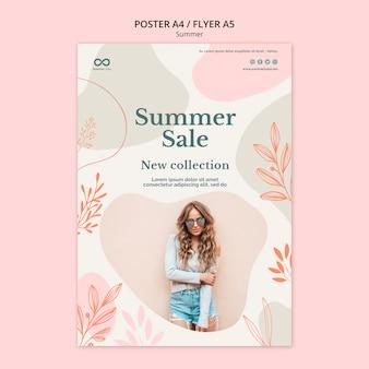 Sommerkollektion verkauf poster design
