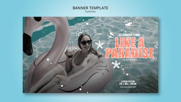 Sommerkonzept banner design