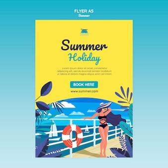 Sommerkonzept flyer vorlage