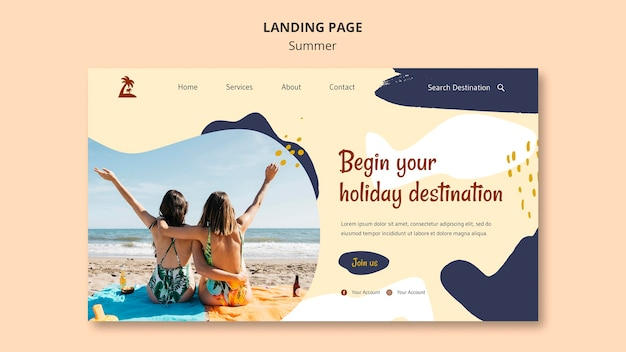 Sommerkonzept landingpage vorlage