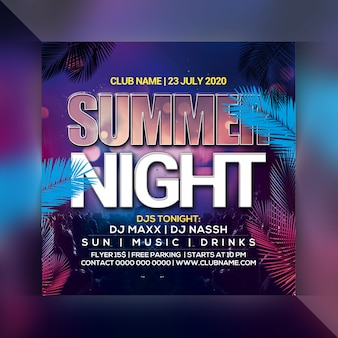Sommernacht party flyer