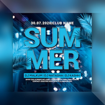 Sommernacht party flyer