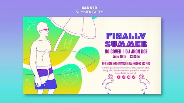 Sommerparty banner vorlage thema