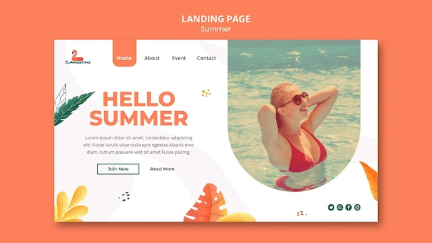 Sommerparty landing page