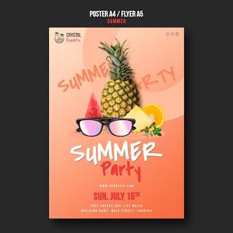 Sommerplakat oder flyer-vorlage