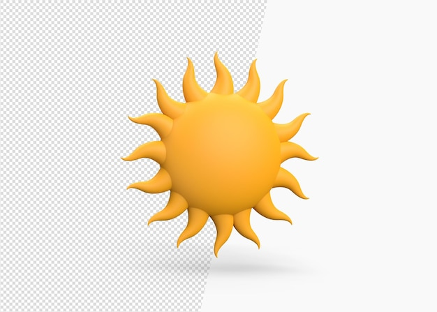 Sommersonne 3d-rendering-konzeptmodell