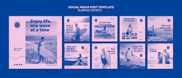 Sommersport social media post