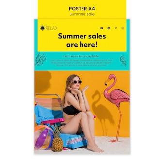 Sommerverkäufe sind hier plakat
