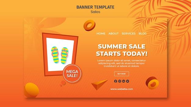 Sommerverkauf banner vorlage