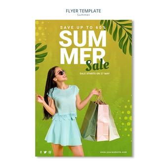 Sommerverkauf flyer vorlage stil