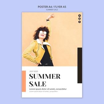 Sommerverkauf flyer vorlage