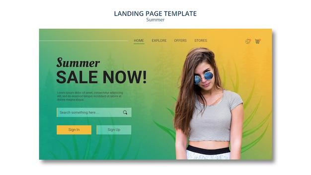 Sommerverkauf im landingpage-stil