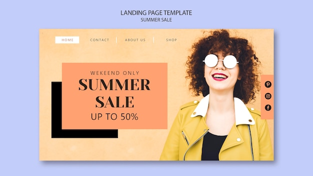 Sommerverkauf landingpage vorlage