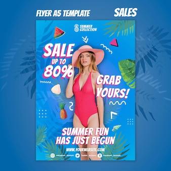 Sommerverkaufsdruckvorlage