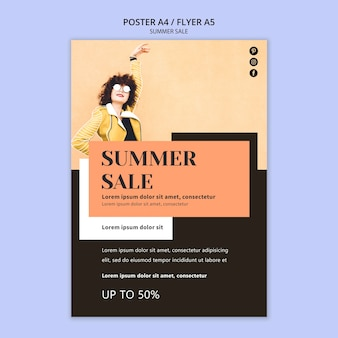 Sommerverkaufsplakatschablone