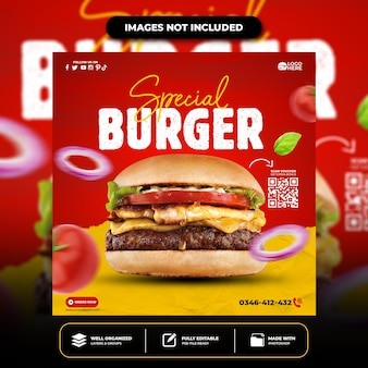 Sondermenü social media food social media banner post design template instagram