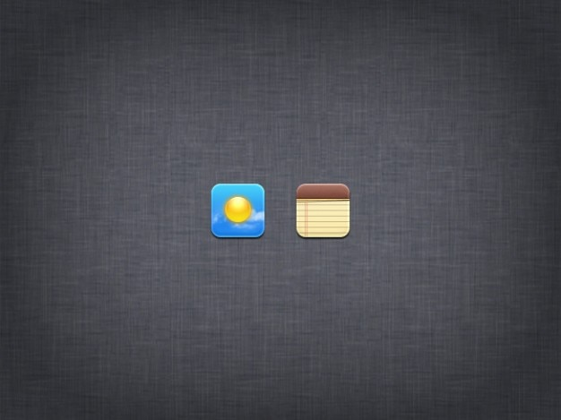 Sonne und notizblock kleine symbole