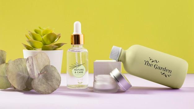 Sortiment an bio-kosmetikprodukten