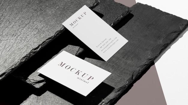 Sortiment von mock-up-visitenkarten