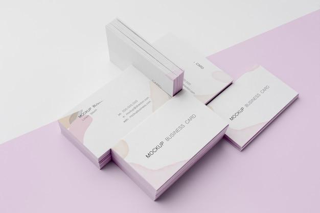 Sortiment von modell-visitenkarten