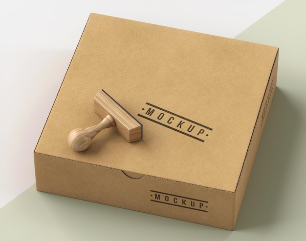 Sortiment von stempel und box beschriftet