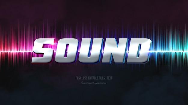 Sound 3d-text-stil-effekt