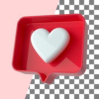 Soziale medien wie benachrichtigung 3d machen transparent